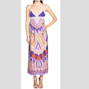 Anthropologie Lilka Silk Maxi Dress